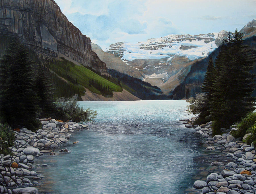 Landscape Painting - Lake Louise by Jennifer Hotai