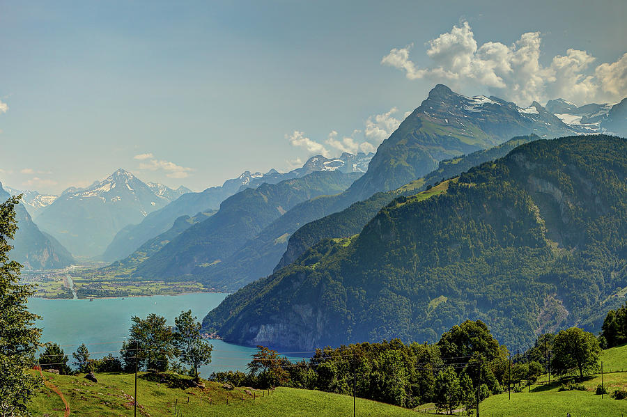 Lake Lucerne And The Alps In Switzerland Photograph by Tatyana Diamantine