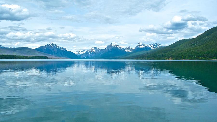 Lake Mcdonald Photograph - Lake Mcdonald Reflection In Glacier  National Park-montana by Ruth Hager