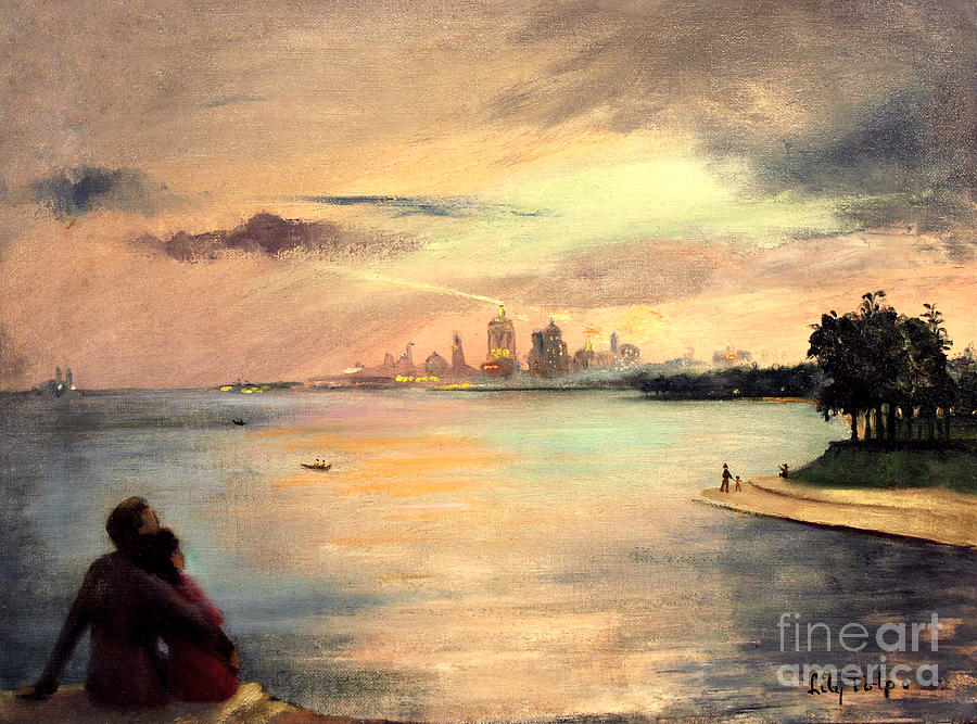Lake Michigan Chicago Skyline 1952 by Art By Tolpo Collection