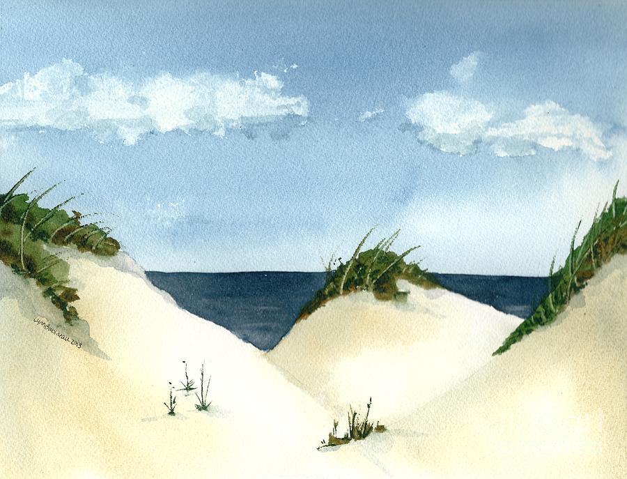 Beach Painting - Lake Michigan Dunes by Lynn Babineau