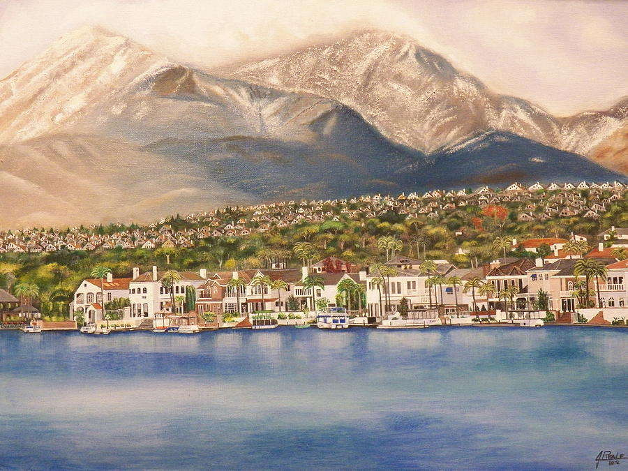 Lake Mission Viejo CA Painting by Jim  Reale