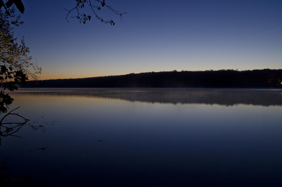 Lake Photograph - Lake Nockamixon Just Before Sunrise by Bill Cannon
