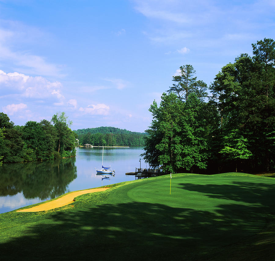 Color Image Photograph - Lake On A Golf Course, Legend Course by Panoramic Images