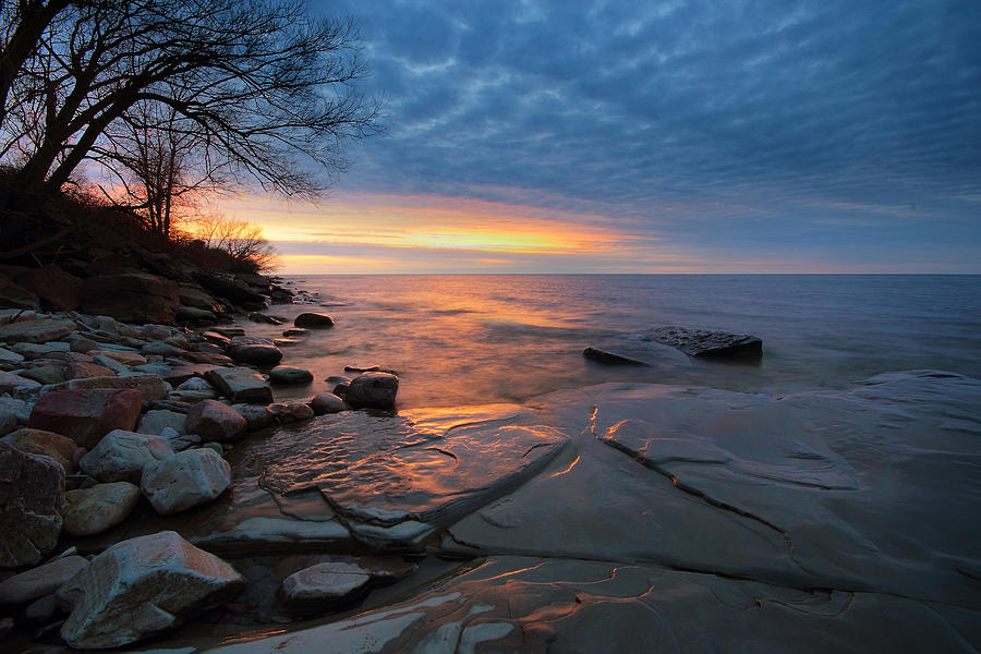 Landscape Photograph - Lake Ontario At Sunset by Tracy Welker
