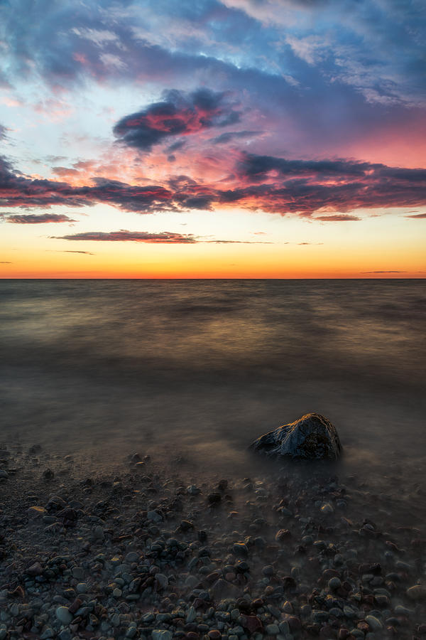 Waterscape Photograph - Lake Ontario Sunset by Mark Papke