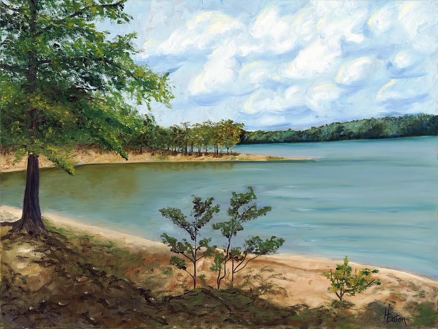 Lake Ouachita Painting - Lake Ouachita by Helen Eaton