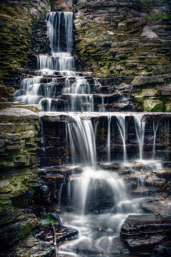 Lake Park Waterfall Photograph By Scott Norris