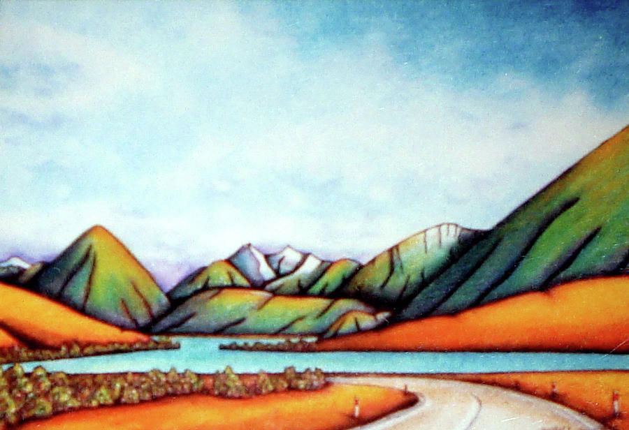 Lake Pearson Painting - Lake Pearson 1999 Si Nz by Barbara Stirrup