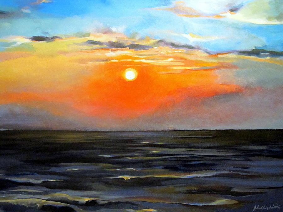Lake Pontchartrain Sunset  by John  Duplantis