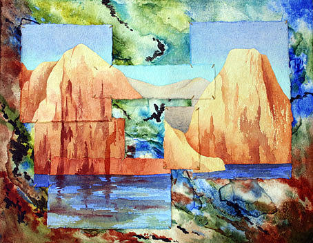 Lake Powell Painting - Lake Powell Abstraction by Nancy Goldman