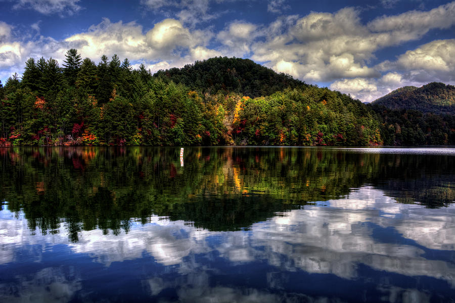 Lake Santeetlah in Fall by Greg Mimbs