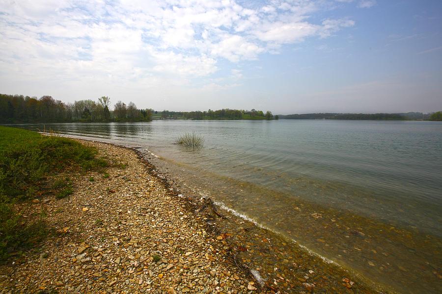 Blue Photograph - Lake Scene by John Holloway