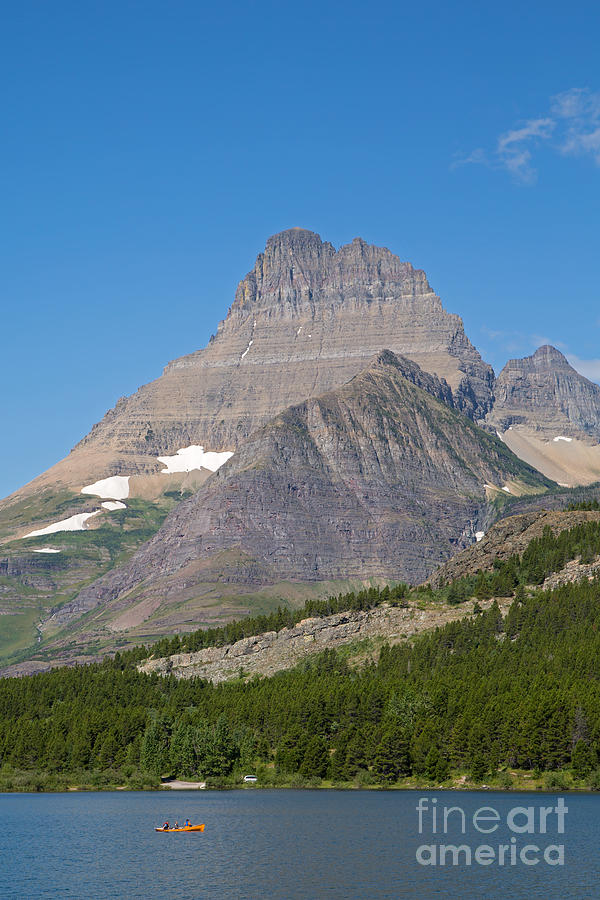 Mountains Photograph - Lake Sherburne In Glacier National Park by Natural Focal Point Photography