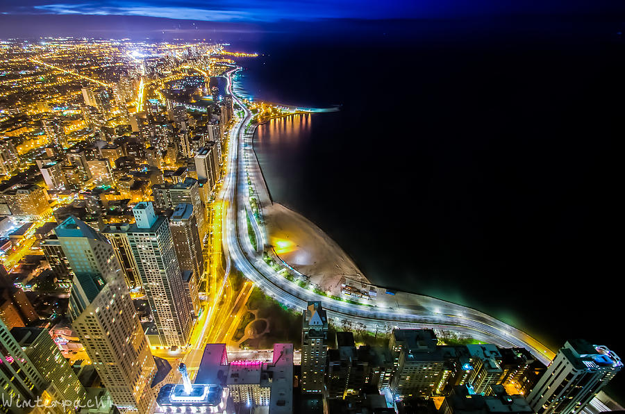 Chicago Photograph - Lake Shore Drive Glow by Raf Winterpacht