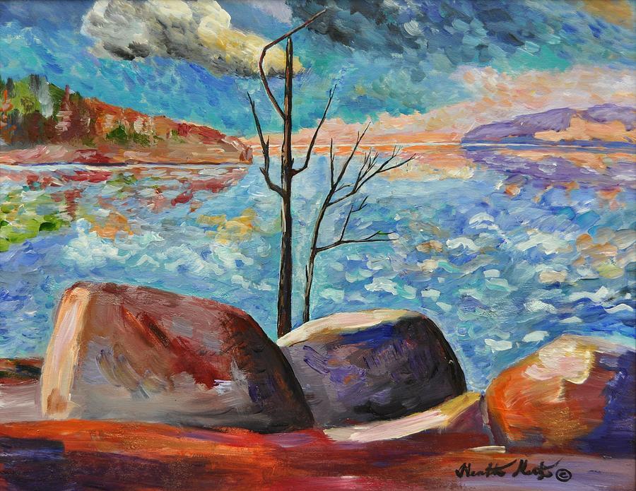 Lake Painting - Lake Simcoe Peace by Heather Kertzer