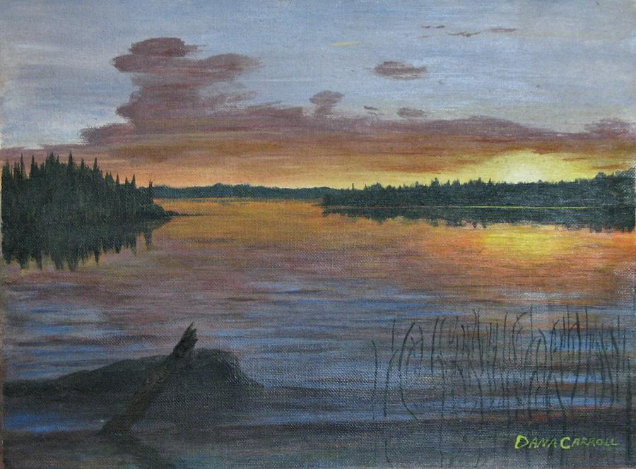 Lake Painting - Lake Sunrise by Dana Carroll