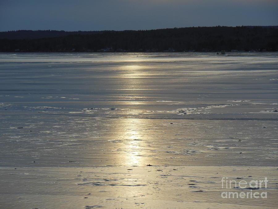 Light Pyrography - Lake Sunset 10 by Ingrid L