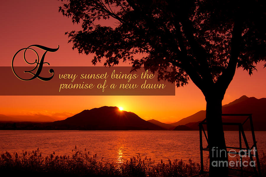 Fall Colors Photograph - Lake Sunset with Promise of a New Dawn by Beverly Claire Kaiya