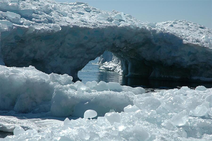 Lake Superior Ice Bridge Photograph - Lake Superior Ice Bridge by Sandra Updyke