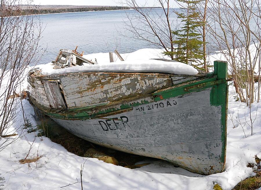 Old Fishing Boat Photograph - Lake Superior Memories by Sandra Updyke