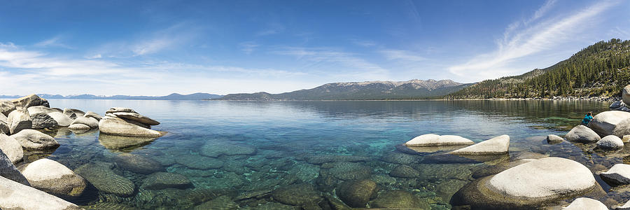 Lake Photograph - Lake Tahoe Calm by Mike Herdering