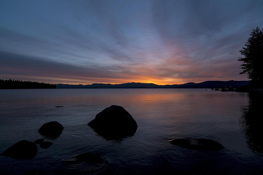 Lake Tahoe Photograph - Lake Tahoe Dawn by Mike Herdering