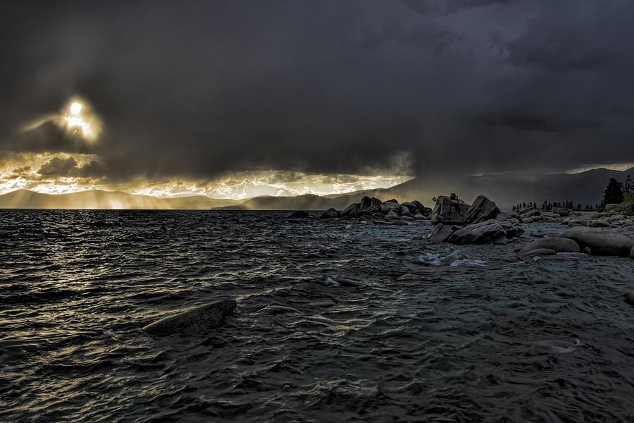 Lake Tahoe Photograph - Lake Tahoe Drama by Mike Herdering