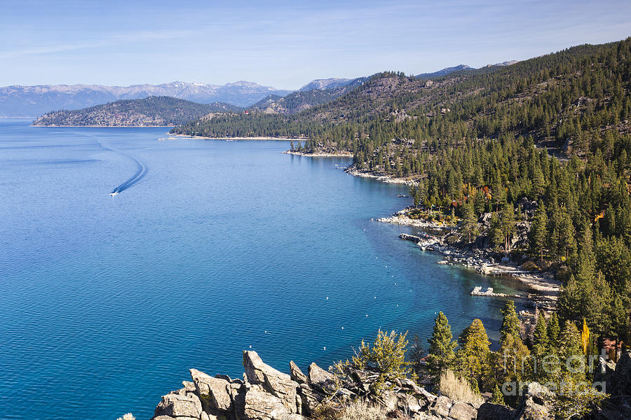 Lake Tahoe east shore from above by Ken Brown