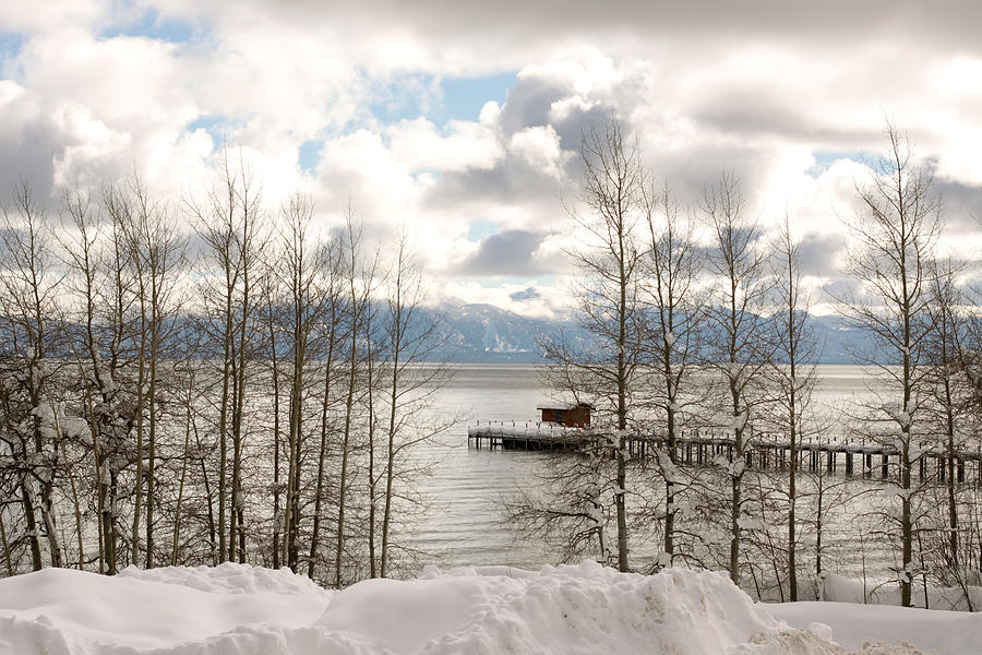 Snow Photograph - Lake Tahoe In Winter by Denice Breaux