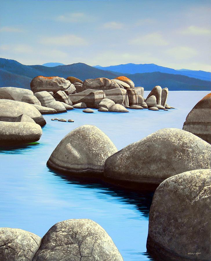 Lake Tahoe Painting - Lake Tahoe Rock Garden by Frank Wilson