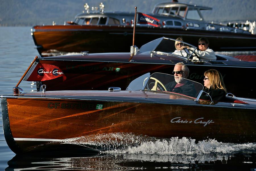 Lake Photograph - Lake Tahoe Speedboats by Steven Lapkin