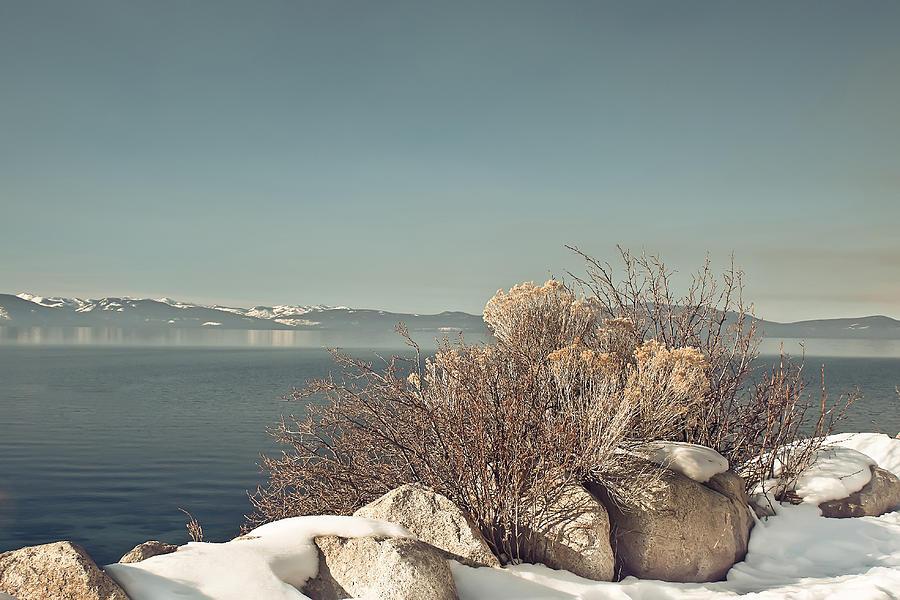 Landscape Photograph - Lake Tahoe Winter by Kim Hojnacki