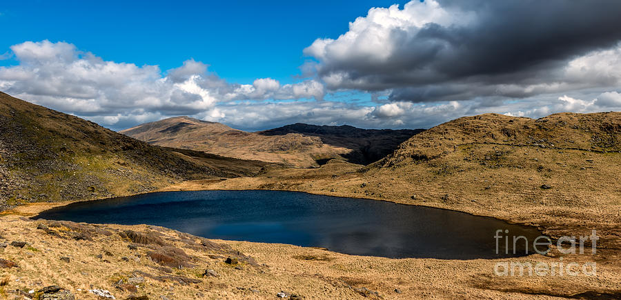 Clouds Photograph - Lake Teyrn Snowdonia by Adrian Evans