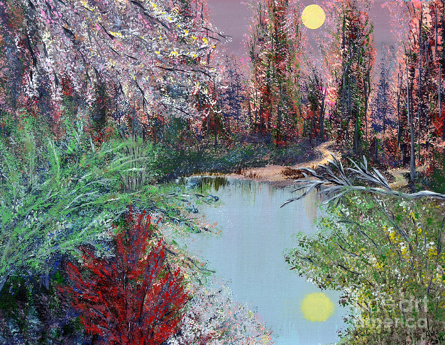 Lake Painting - Lake Tranquility by Alys Caviness-Gober