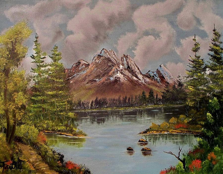Landscape Painting - Lake Trek by Patrick Trotter
