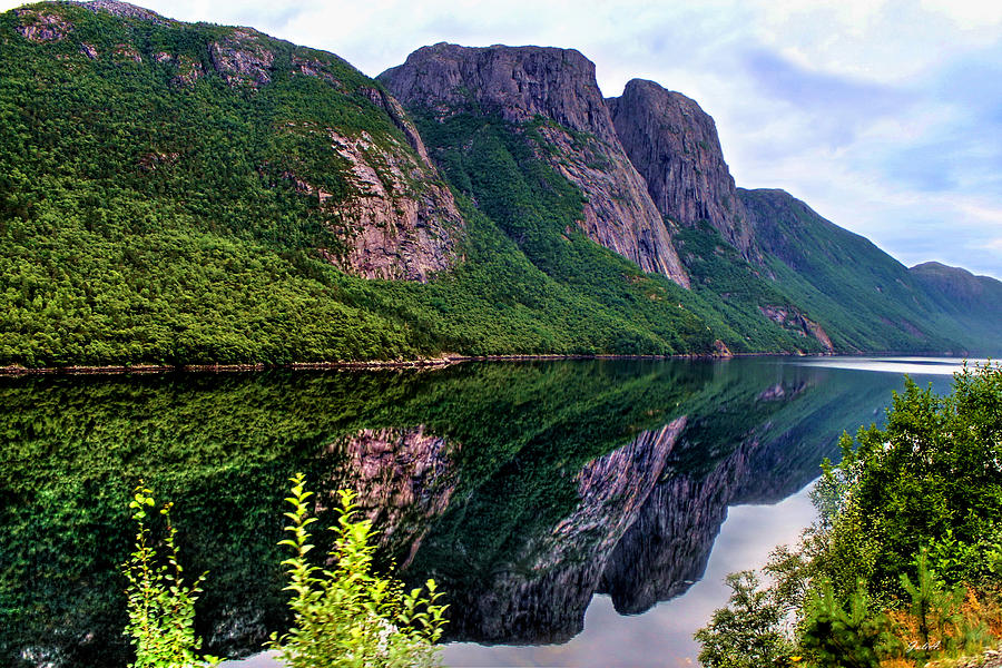 Reflection Photograph - Lake Tysdalsvatnet Norway by Julia Fine Art And Photography