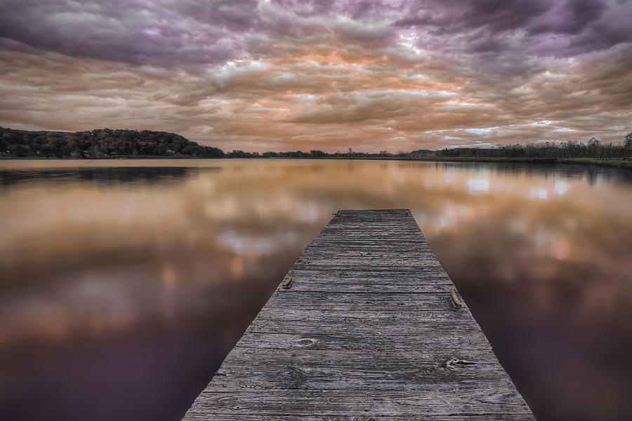 Twilight Photograph - Lake White Twilight by Jaki Miller
