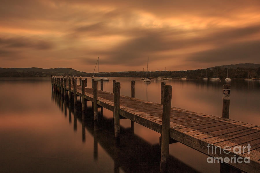 Ambleside Photograph - Lake Windermere Sunset by Pete Reynolds
