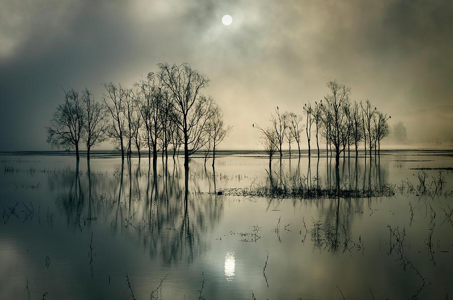 Sunrise Photograph - Lakes Secret by