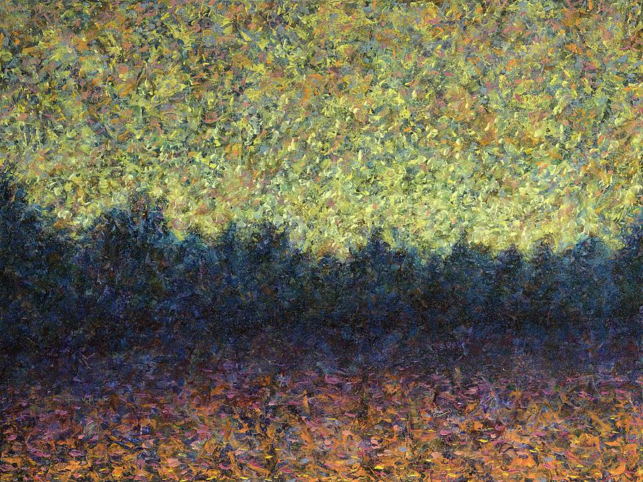Lakeshore Painting - Lakeshore Sunset by James W Johnson