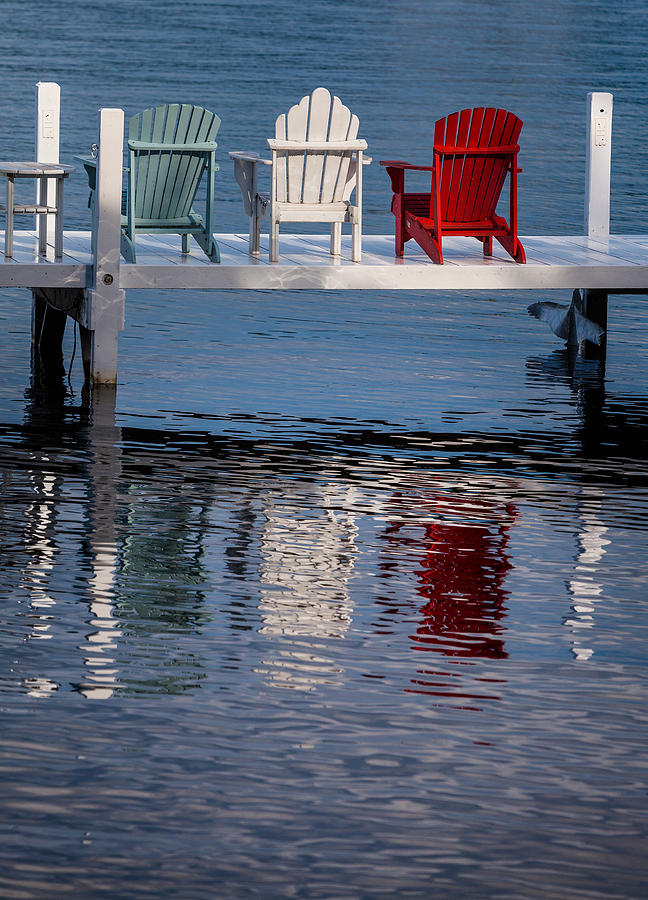 Chair Photograph - Lakeside Living Number 2 by Steve Gadomski