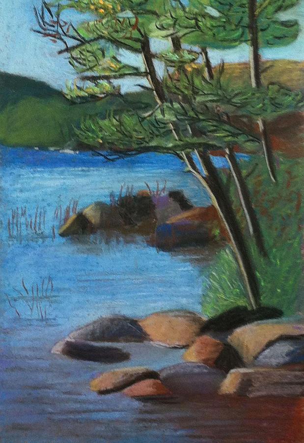 Lake Pastel - Lakeside Pines by Jane Croteau