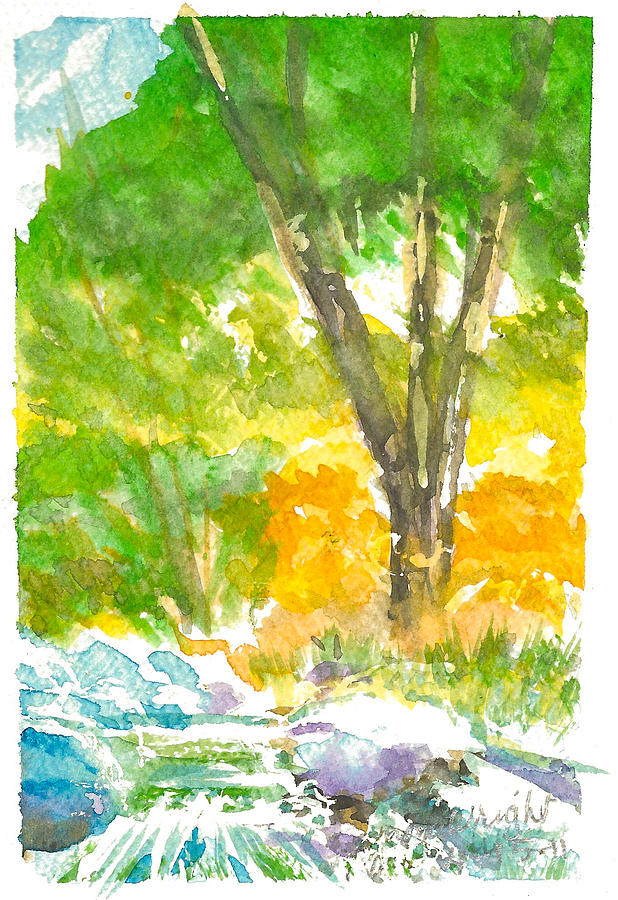 River Painting - Lakeside by Ramona Wright