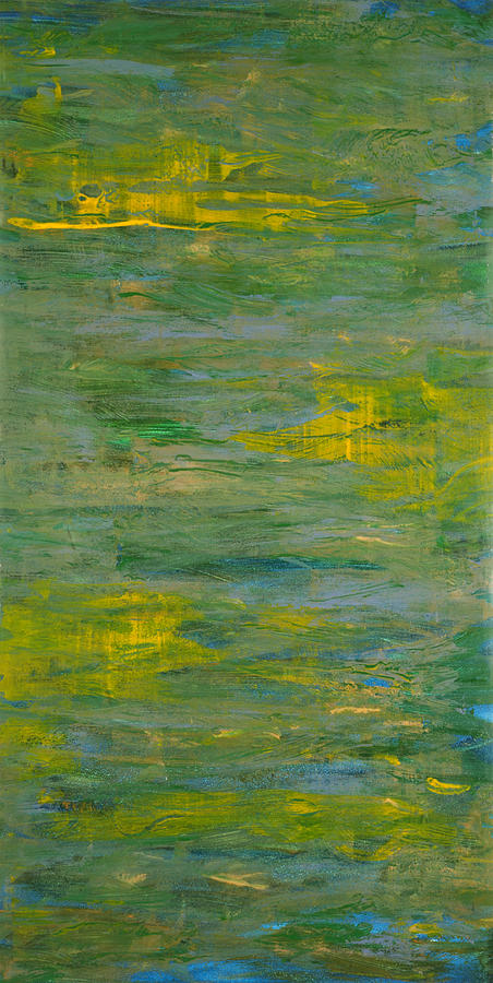 Abstract Painting - Lakeside Sun by Corie Weaver