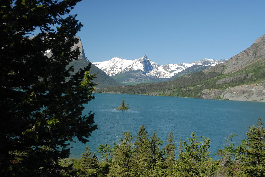 Wilderness Photograph - Lakeview In Glacier National Park by Larry Moloney