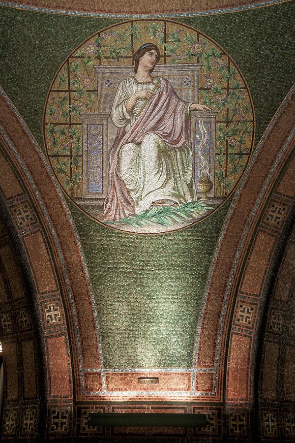 Photograph Photograph - Lakewood Chapel Detail Faith by T C Hoffman