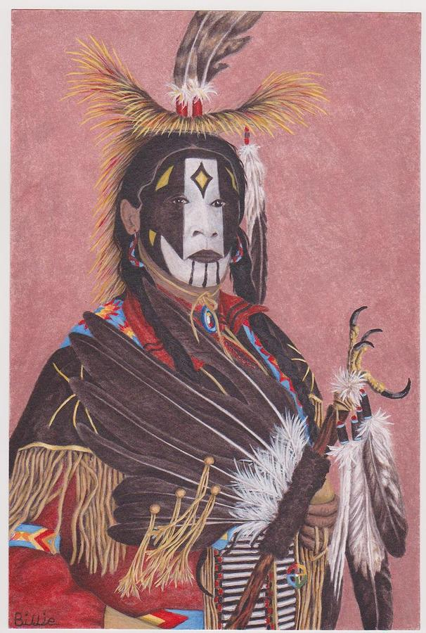 Lakota Indian Spirit Ceremonial Dress Painting by Billie Bowles