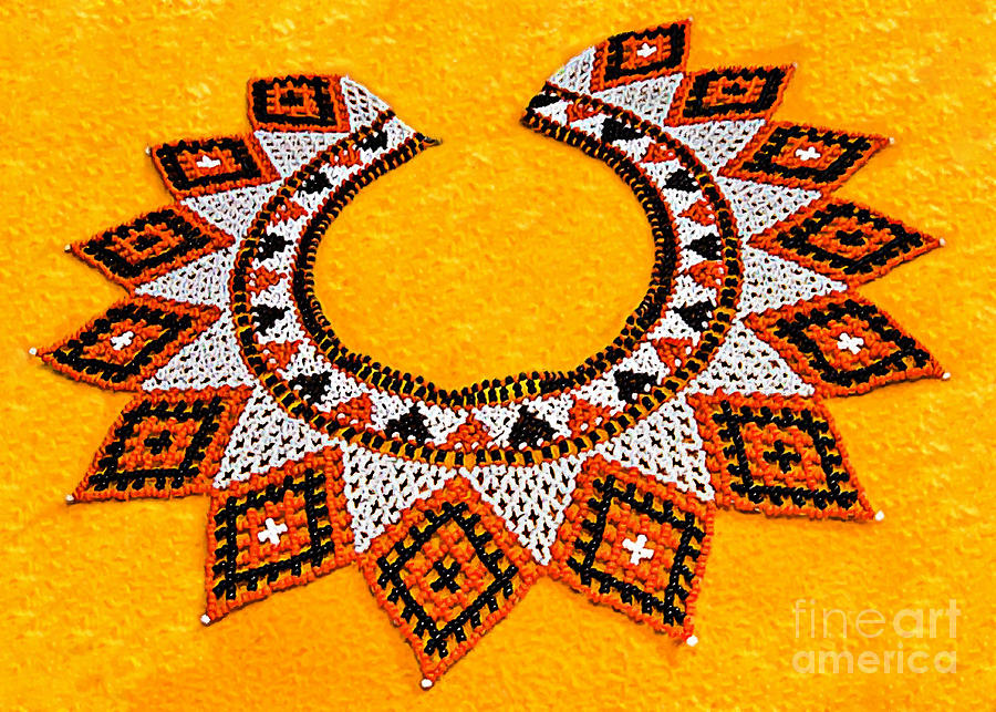 20th Photograph - Lakota Souix Dance Collar by Bob and Nadine Johnston