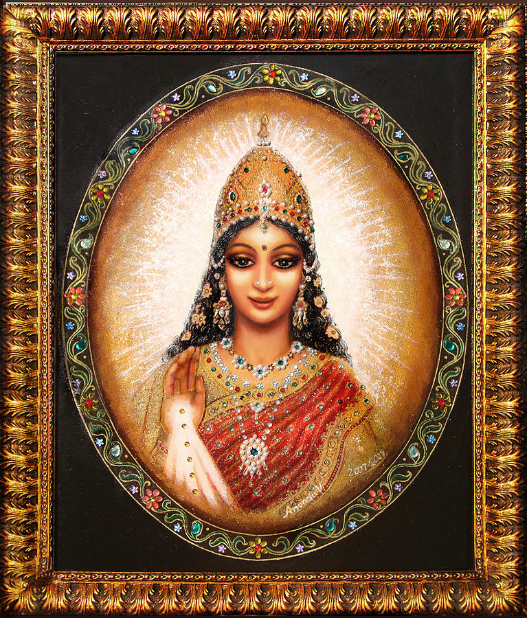 Goddess Painting - Lakshmi Goddess Of Abundance by Ananda Vdovic